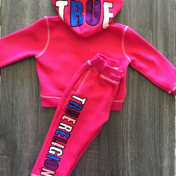 70ab5653a Baby Girl True Religion Hoodie and Jogger Pant Set.  M 5ad8c87b45b30cf2d9b5a8bd